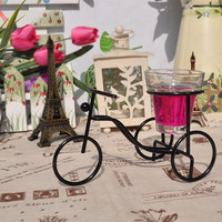 Metal Iron Bicyclex Style Home Decoration Candle Stand [6256381446]