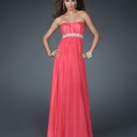 Empire Strapless Silver Long Length Evening Dresses 2012 (Cee0166) With Beads