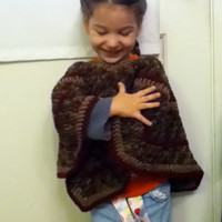 Child's Poncho in Autumn Colors