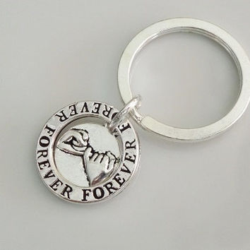 Forever pinky promise Keychain, Best Friend Keychain, sister, mother daughter, boyfriend Girlfriend keychain Gift