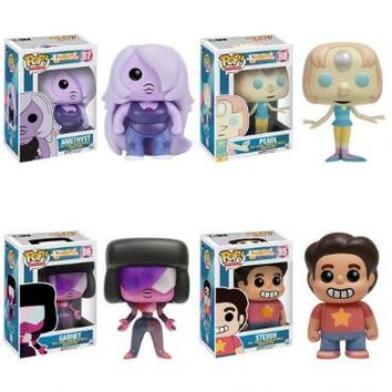 Steven Universe Pop! Figure Set, Includes Steven, Garnet, Amethyst, and Pearl | CartoonNetworkShop.com