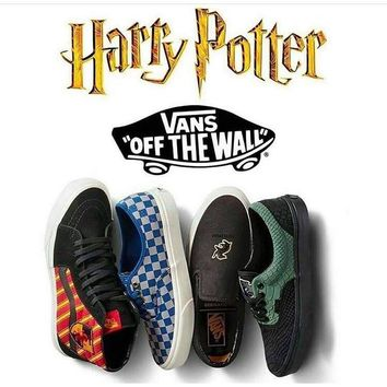 VANS X HARRY POTTER GRYFFINDOR RAVENCLAW HUFFLEPUFF SLYTHERIN Men Shoes Original Sneakers ready stock