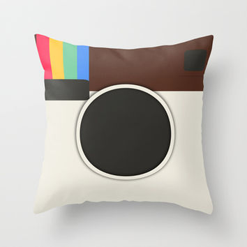Insta Throw Pillow by Timothy Davis
