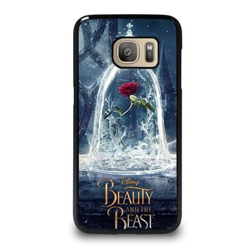 BEAUTY AND THE BEAST ROSE IN GLASS Samsung Galaxy S7 Case Cover