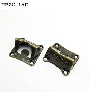 HBZGTLAD Vintage Bronze Wall Mounted Opener Wine Beer Soda Glass Cap Bottle Opener Kitchen Bar Gift Zinc Alloy About