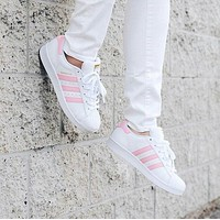"""Adidas classic men's shoes casual shoes pink shell head"