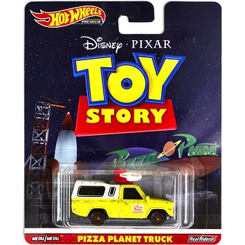 New 2019 Hot Wheels Pizza Planet Truck Toy Story Disney Pixar Premium Real Riders Retro Entertainment