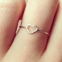 verameat | got heart ring in silver