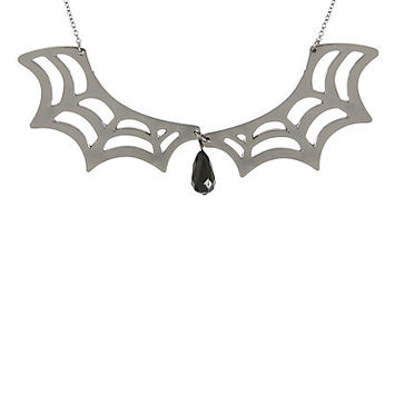 Blackheart Spider Web Collar Necklace