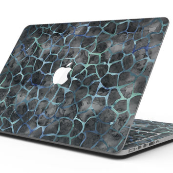 Black and Blue Watercolor Giraffe Pattern - MacBook Pro with Retina Display Full-Coverage Skin Kit
