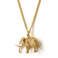 Elephant Pendant Necklace by Sophie Hulme