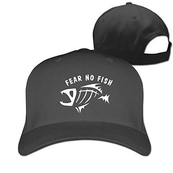 Fear No Fish Hat Unisex-Adult Hip-Hop Snapback Cap