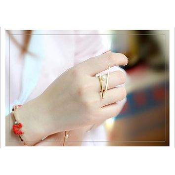 TANY - Geo Pearl Ring