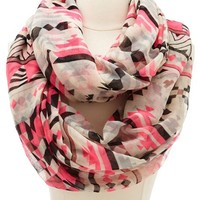 Neon Geometric Infinity Scarf: Charlotte Russe