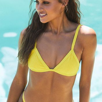 Salero Swim Yellow Wide Strap Bikini Bottom | PacSun