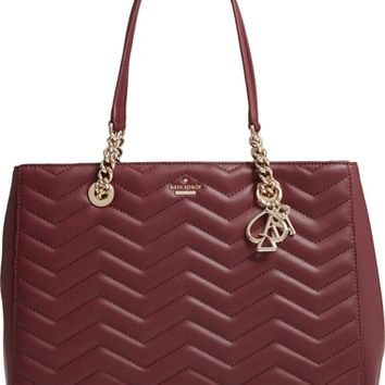 kate spade new york reese park courtnee leather tote | Nordstrom