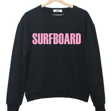 Harajuku Women Sweatshirt Jumper Surfboard Flawless Pink Letters Print Casual Hoody For Lady Hipster Street Black White TZ203-69