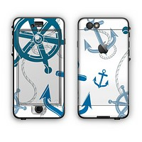 The Nautical Anchor Collage Apple iPhone 6 Plus LifeProof Nuud Case Skin Set