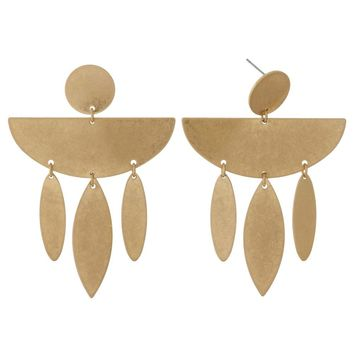 Saturn Dangle Earrings - Brass