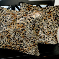 Faux Fur Pillows, Fake Fur Pillow, 20x20, Decorative Pillow, Throw Pillow Ready to Ship