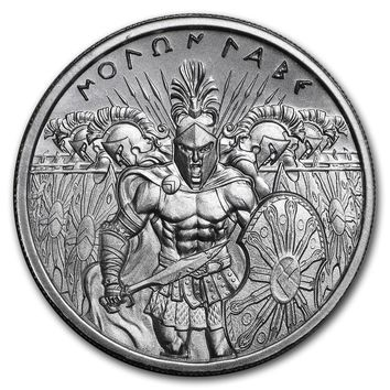 2 oz Silver High Relief Round - Molon Labe (Type 2)