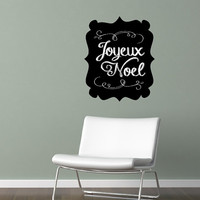 Wall Decal Chalkboard Art Inspired Christmas Joyeaux Noel  Vinyl Wall Decal 22488