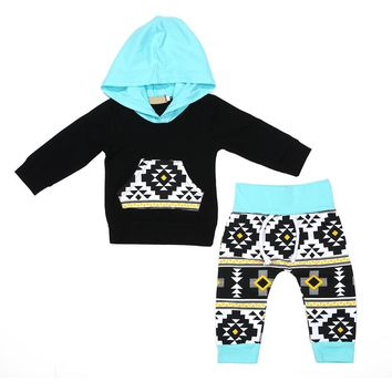 Spring Baby Rompers Newborn Cotton tracksuit Infant Baby Boys Girls Black Hoodies Tops+Long Pants Clothes Suits baby clothes boy