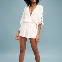 Zephyr Breeze White Lace Romper