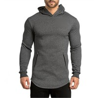2017 gyms Hoodie Clothes Bodybuilding Sweatshirt Warm Clothing Shark zipper conventional Cotton sportswear Pullover Tracksuit