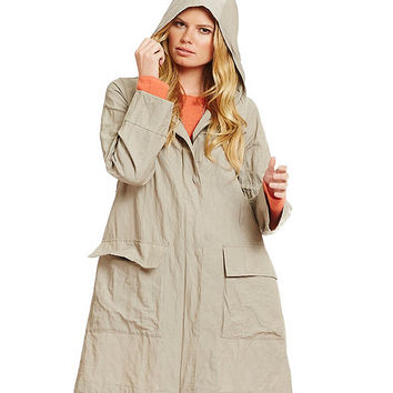 Eileen Fisher Hooded A-Line Jacket | Dillards