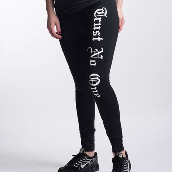 Women's Trust No One Full Length Yoga Pants
