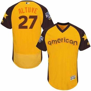 Houston Astros #27 Jose Altuve Gold Flexbase Authentic Collection 2016 All-Star American League Stitched Baseball Jersey