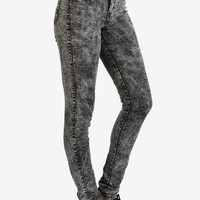"11"" Super High Rise Black Acid Wash Denim"