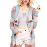 Border Knit Cardigan