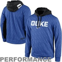 Nike Duke Blue Devils KO Performance Hoodie - Royal Blue