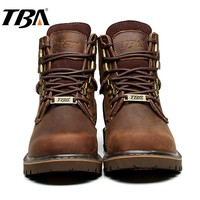 TBA Hiking Shoes Men Trekking Boots Men's Winter Sneakers for Men Breathable Leather Tactical Shoes Sport Winter Men's Sneakers