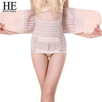 He Hello Enjoy 3pieces Set Maternity Postnatal Belt After Pregnancy Bandage Belly Band Waist Corset Pregnant Women Slim Shapers
