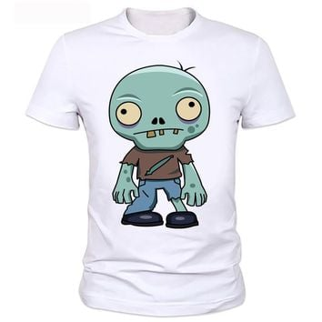 Zombies personality printing men's T-shirt plants vs zombies boys t shirt summer kids t-shirt short sleeve top tee  2-52#