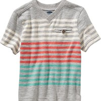 Old Navy Striped V Neck Tees For Baby