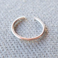 925 Sterling Silver Ear Cuff or Fake Nose Ring 8mm G20