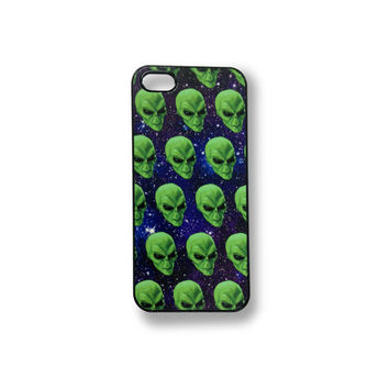 ALIEN SPACE CASE iphone interplanetary club kid e.t. rave accessory seapunk galaxy martian stoner weed cell phone case