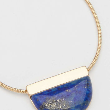 geometric lapis statement necklace | maurices
