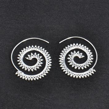 Women's Exaggerate Earrings Whirlpool Gears Retro Earrings