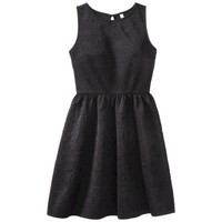 Xhilaration® Junior's Sleeveless Scuba Dress - Black