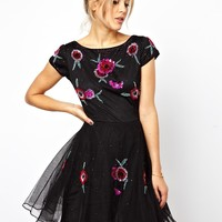 ASOS Pretty Embellished Rose Skater