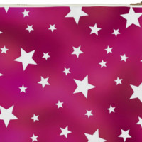 Pink and White Star Pattern Clutch Bag created by HippyGiftShop | Print All Over Me