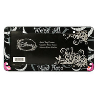 Disney Alice In Wonderland Cheshire Cat We're All Mad Here License Plate Frame