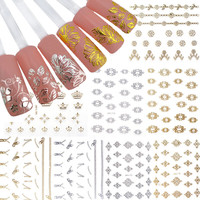 2014 New 12 Sheets Pretty 3D Flower Nail Stickers Manicure Decals Nail Art DIY