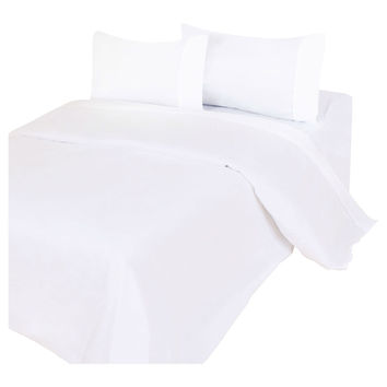 Twin XL Bedding Sheet Set in Stain Resistant Soft. White Microfiber