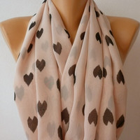 Heard - Infinity Scarf Shawl Circle Scarf  Loop  Scarf Gift -fatwoman - LOVE - Heart